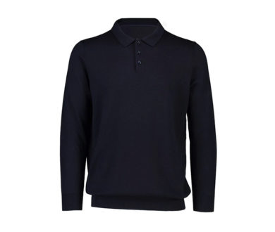 Charles Long Sleeve Cashmere Polo
