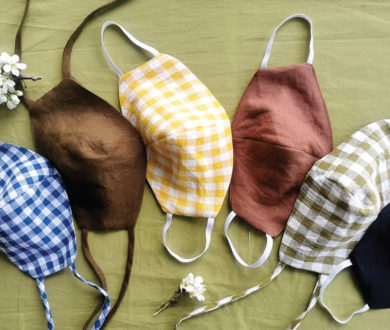 Linen re-useable Facemask