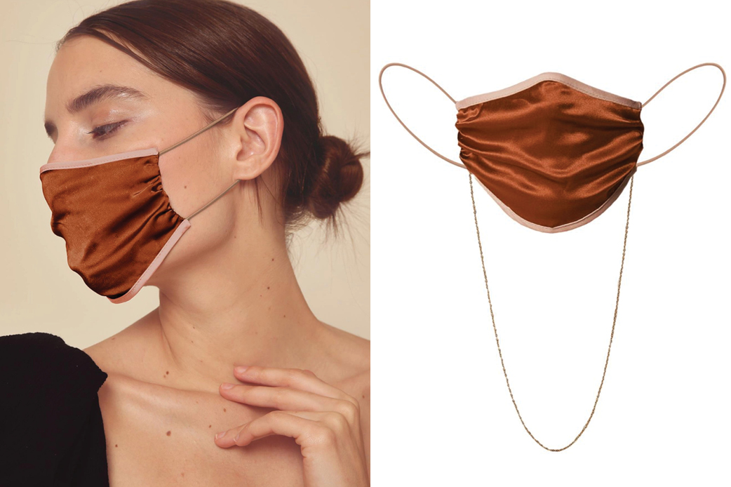 Johanna Ortiz Satin-Lined Silk Charmeuse Face Mask