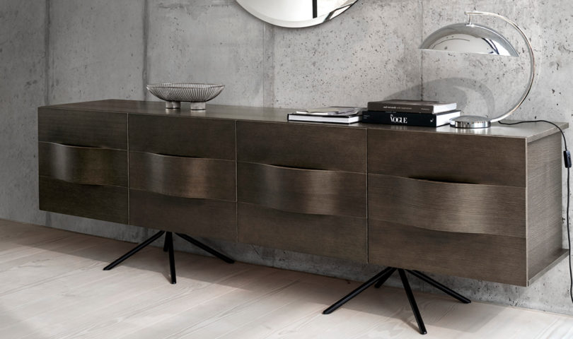 Add a touch of organic beauty to your home with curved wooden furniture