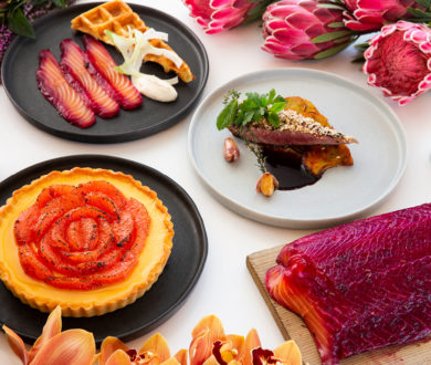 Enhance your at-home dining experience with this floral-inspired feast by celebrated chef Nic Watt