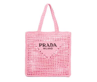 Prada Raffia Tote Bag