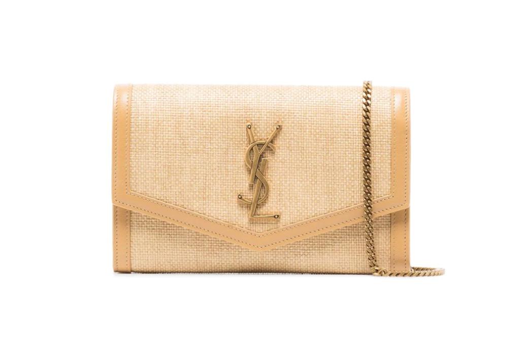 Saint Laurent Raffia Shoulder Bag