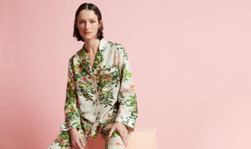 The new sleepwear collaboration between Papinelle and Karen Walker is in bloom