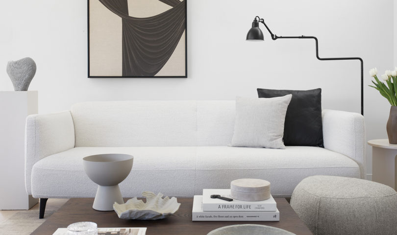 This peaceful living space is an inspiring example of how to style elegant neutrals with plenty of interest