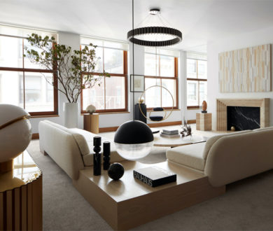 Theatrical yet tranquil, this elevated penthouse completes an aesthetic balancing act along New York City's skyline