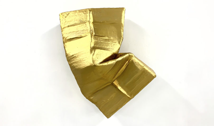 Get to know artist Monique Lacey, whose golden, abstract sculptures are not quite what they seem